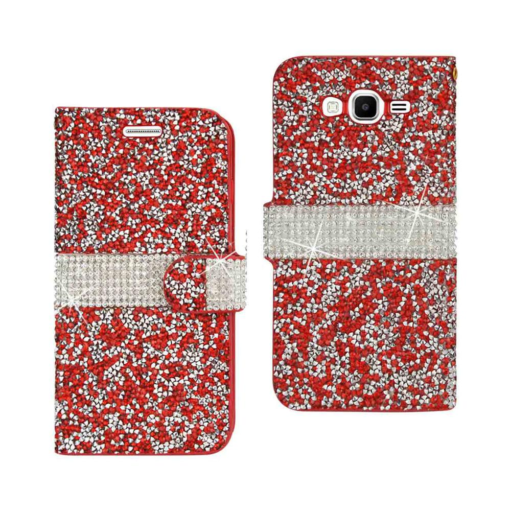Galaxy Grand Prime Rhinestone Case in Red