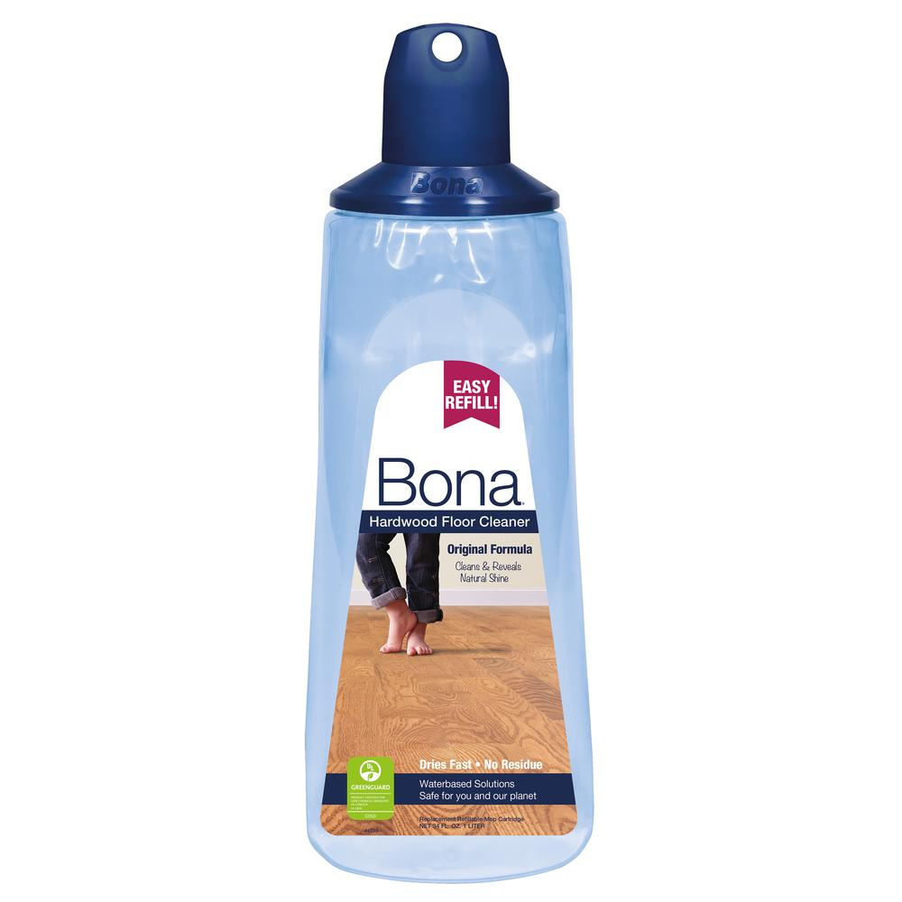 Bona 34 oz hardwood floor cleaner refill cartridge for Wood floor cleaner bona