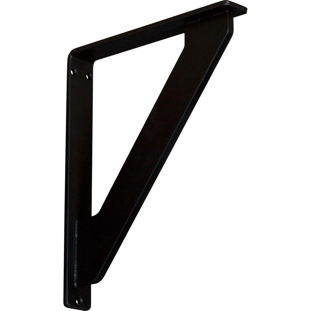 1-1/2 in. x 12 in. x 10 in. Wrought Iron Single