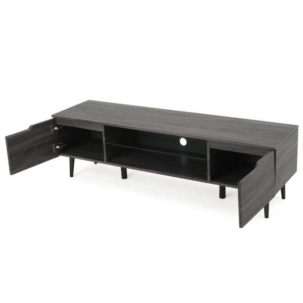 Belen Grey Finished Wood TV Stand