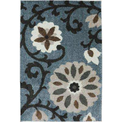 Hazelhurst Abyss Blue 10 ft. x 14 ft. Indoor/Outdoor Area Rug