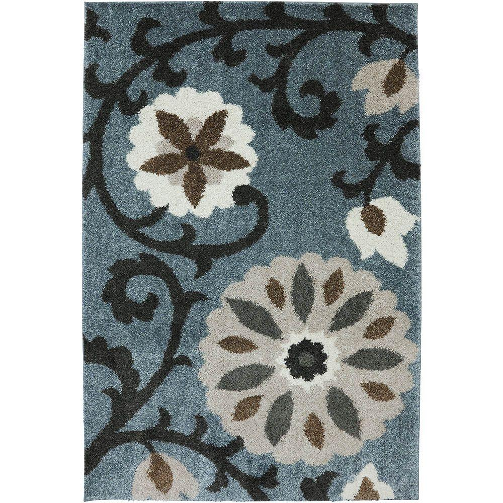 Mohawk Home Hazelhurst Abyss Blue 10 Ft X 14 Indoor Outdoor Area Rug 429126 The Depot