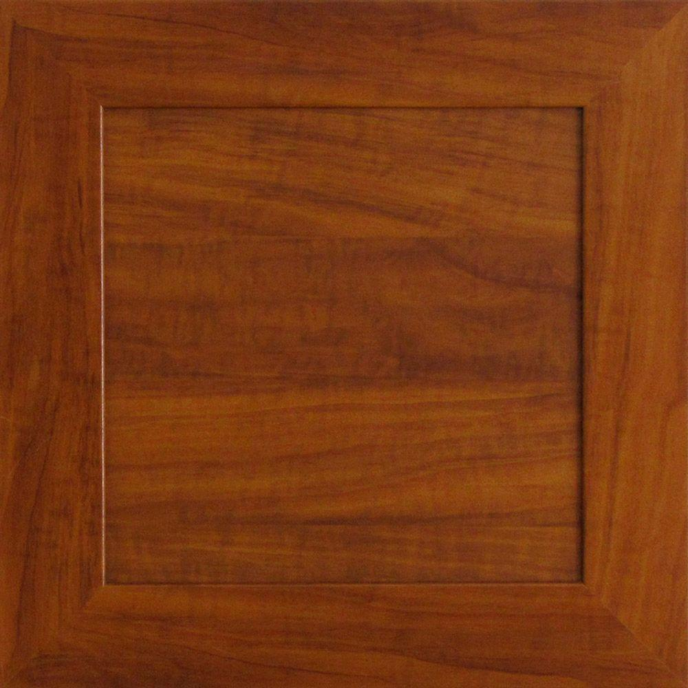 12.75x12.75x.75 in. Livorno Ready to Assemble Cabinet Door Sample in Cognac