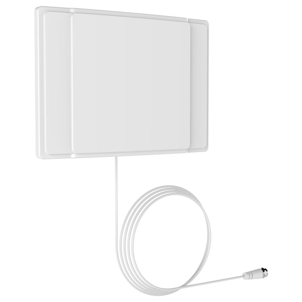 Barkan 40-Miles 10 ft. Cable Indoor HDTV Flat TV Antenna Wall