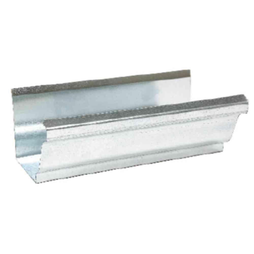 Amerimax Home Products 4 in. x 10 ft. Galvanized-Steel K-Style Gutter Mill Finish