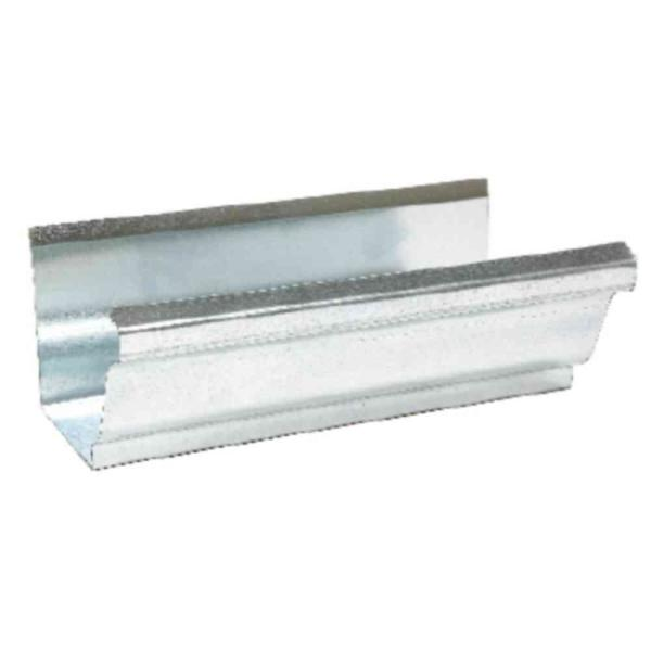 Amerimax Home Products 4 In X 10 Ft Galvanized Steel K Style Gutter Mill Finish 1400700120 The Home Depot