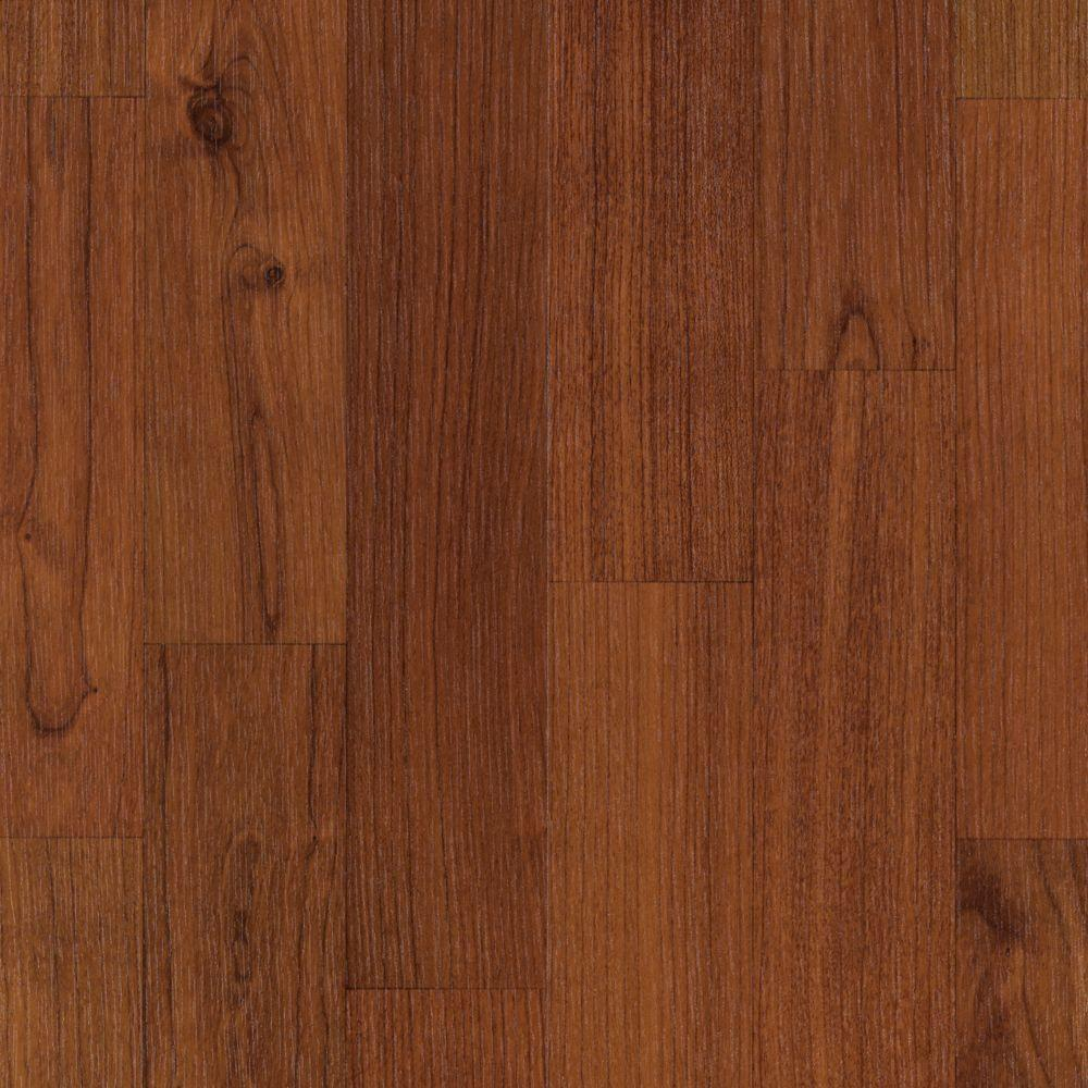 Mohawk Take Home Sample Fairview Sunset American Cherry Laminate Flooring 5 In X