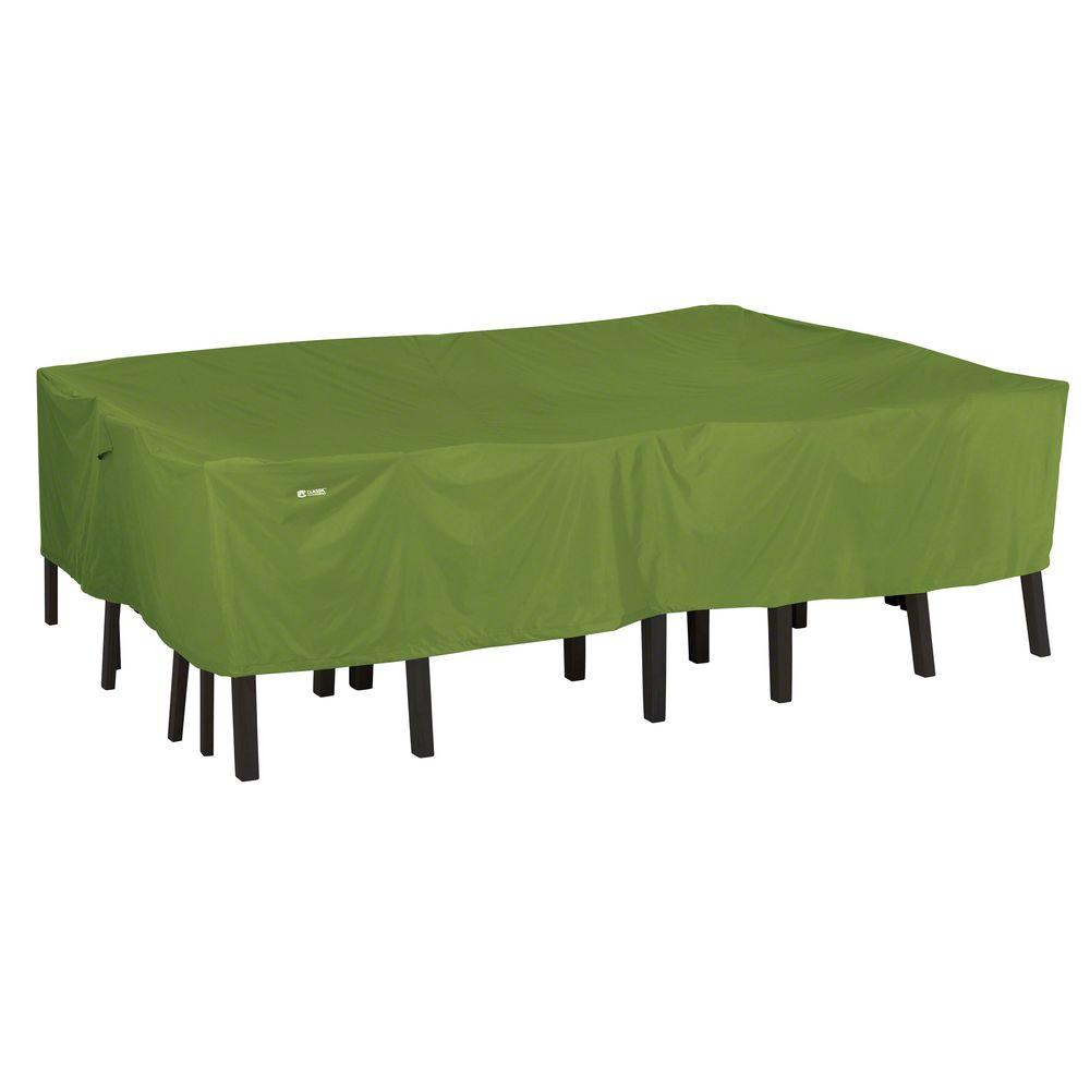 Classic Accessories Sodo Large Rectangular Oval Patio Table And