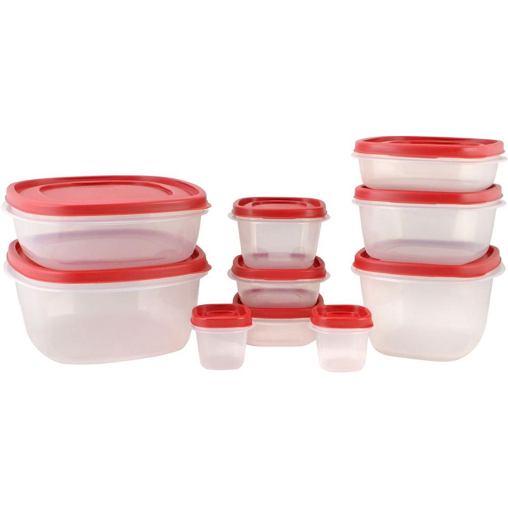 Rubbermaid Easy Find Lids Food Storage Set 18 Piece 1837940 The
