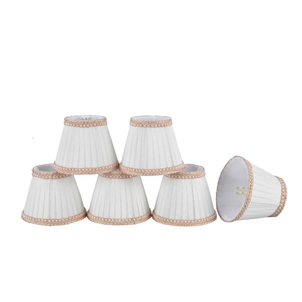5 in. x 4 in. Creme Pleated Empire Lamp Shade (6-Pack)