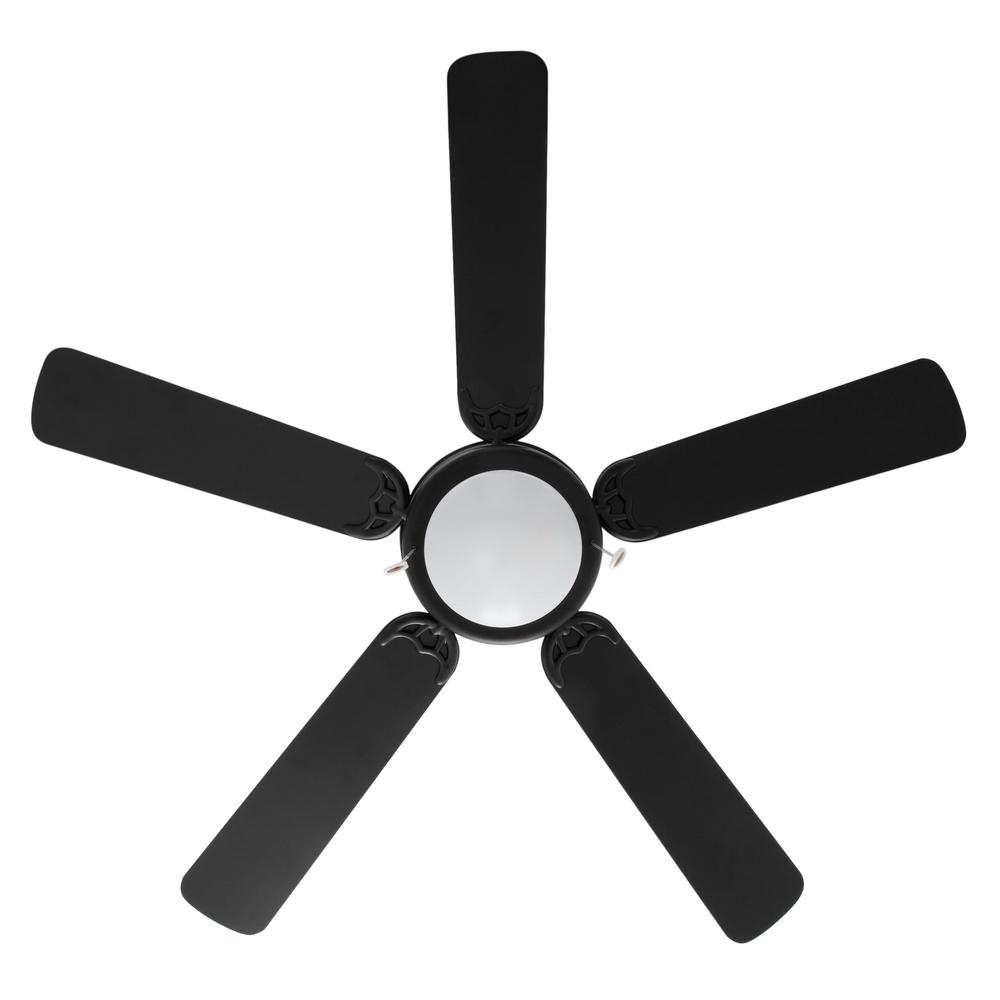 indoor ceiling fan with led light kit black 52 inches traditional school home 792145372578 ebay. Black Bedroom Furniture Sets. Home Design Ideas