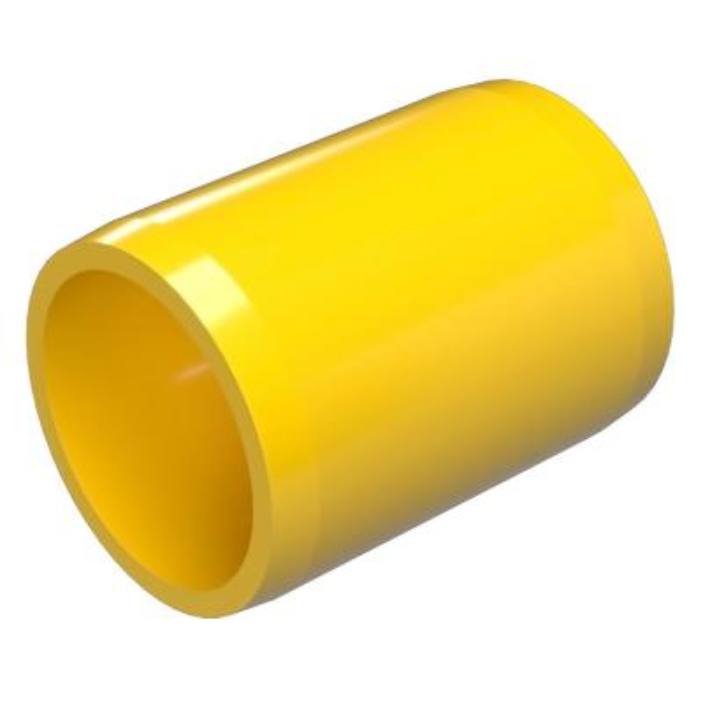 1/2 in. Furniture Grade PVC External Coupling in Yellow (10-Pack)