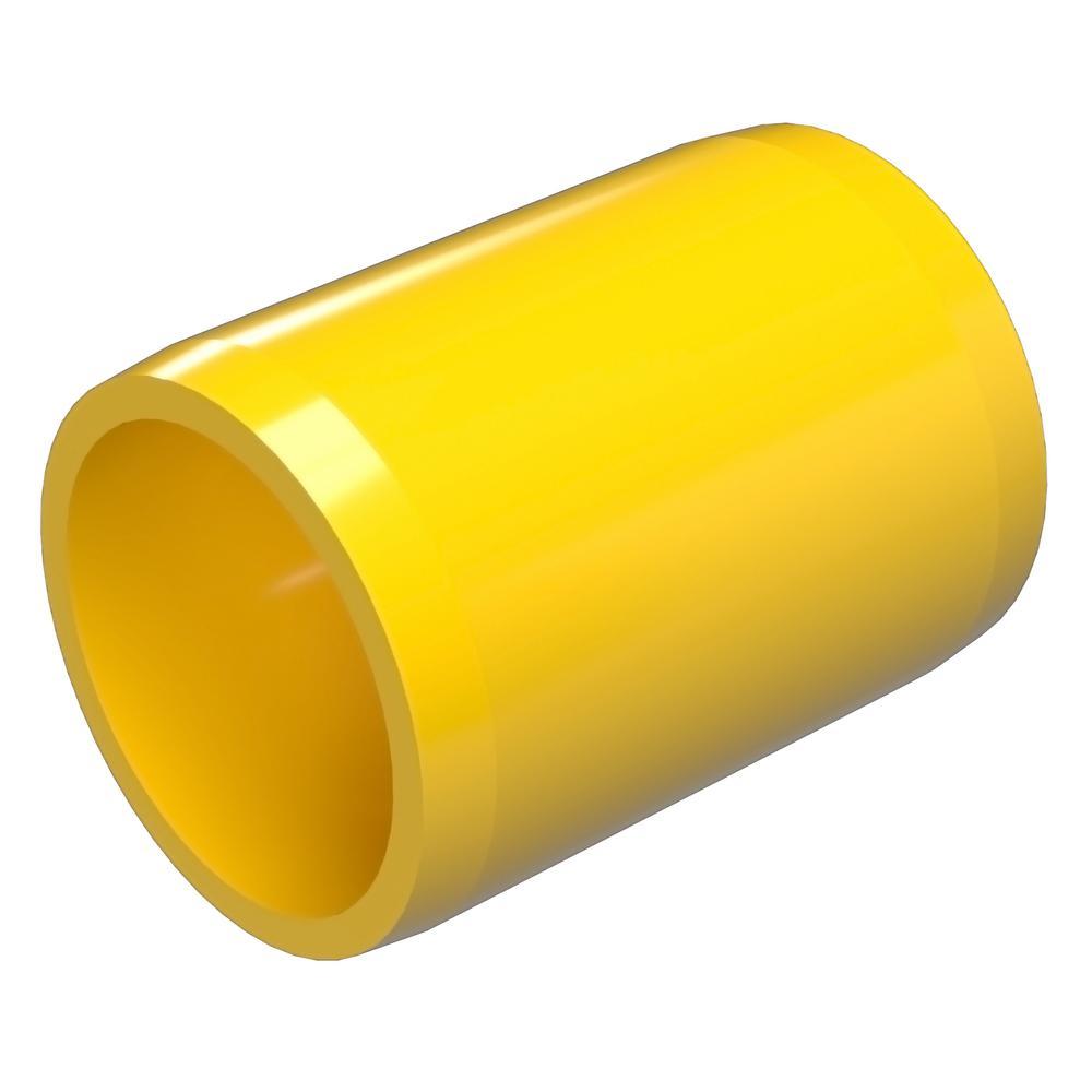 1-1/4 in. Furniture Grade PVC External Coupling in Yellow (10-Pack)