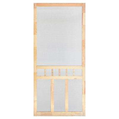 32 in. x 80 in. Wood Classic Screen Door