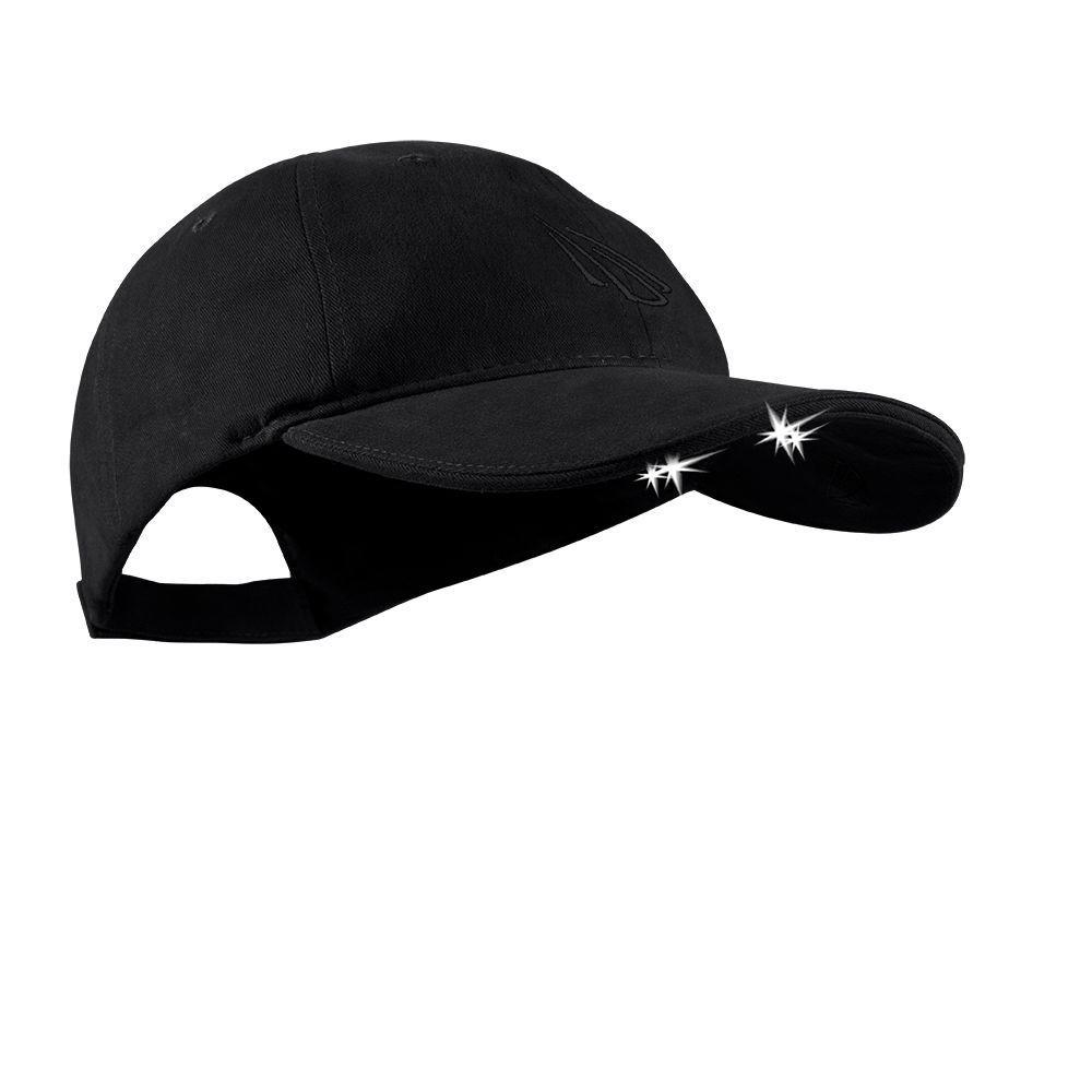 4 LED Lighted Hat, Black