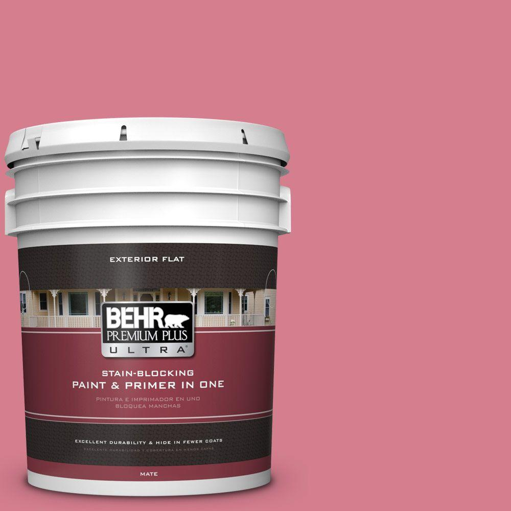 BEHR Premium Plus Ultra 5-gal. #P140-4 I Pink I Can Flat Exterior Paint