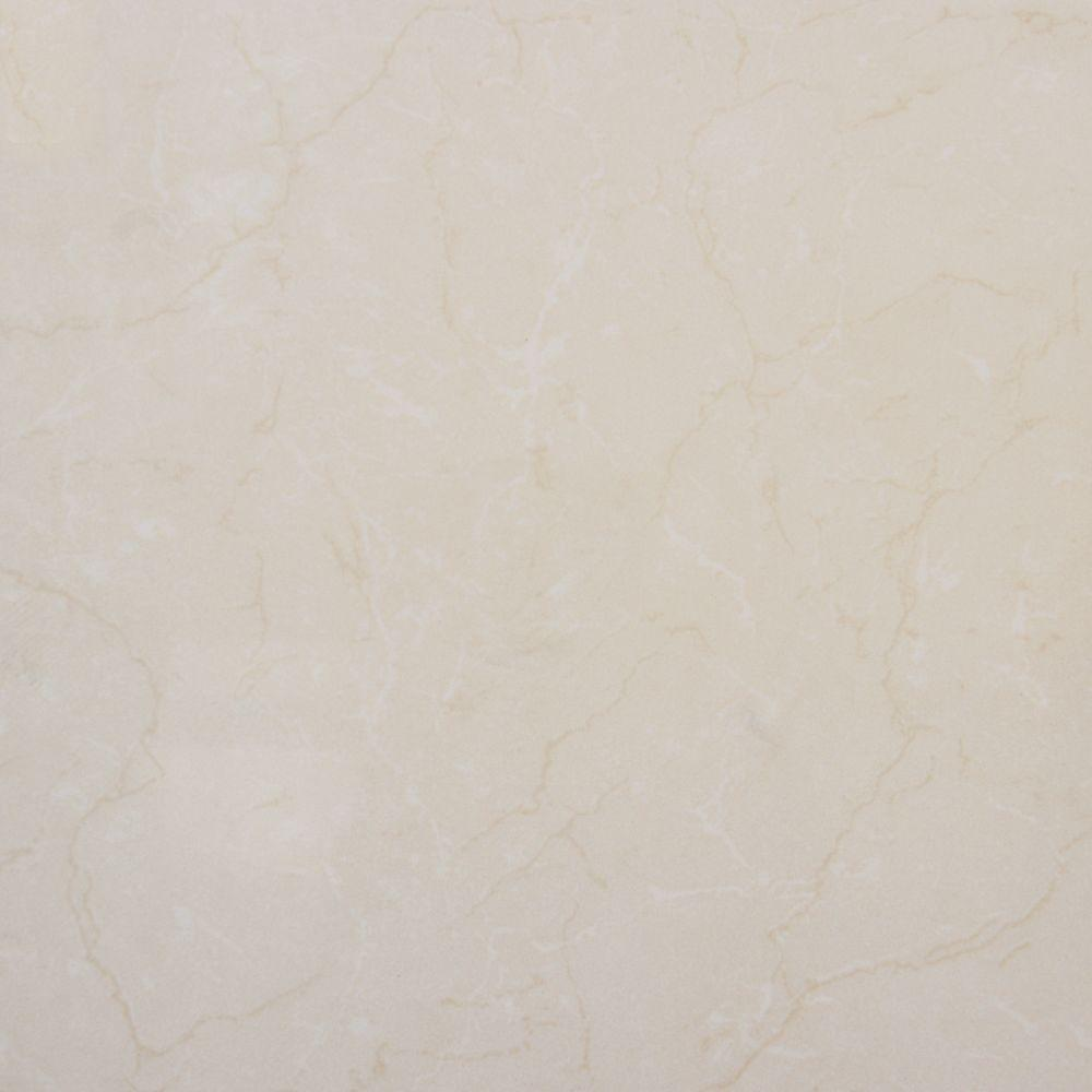 Monterosa Beige 24 in. x 24 in. Polished Porcelain Floor and