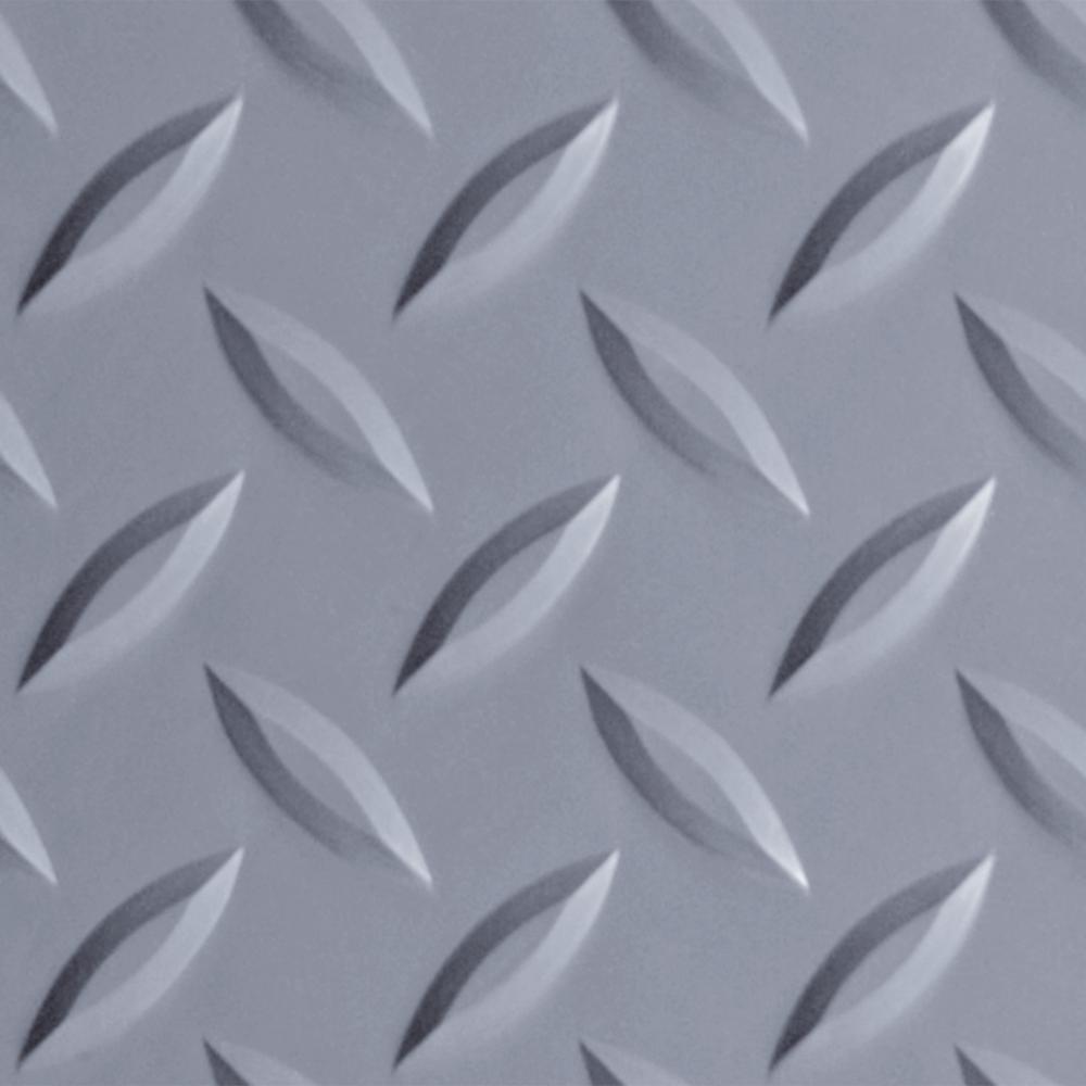 Diamond Tread 8.5 ft. x 22 ft. Slate Grey Commercial Grade Vinyl Garage Flooring Cover and Protector