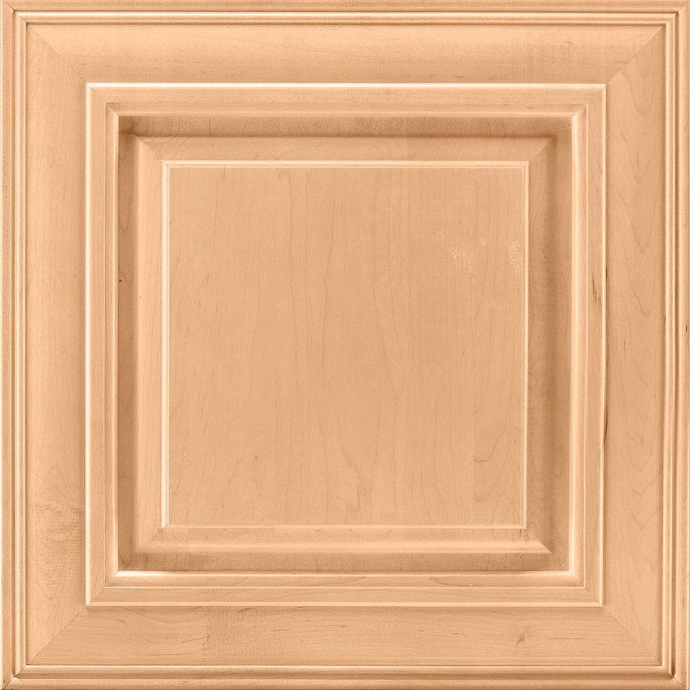 14-9/16x14-1/2 in. Savannah Maple Cabinet Door Sample in Honey