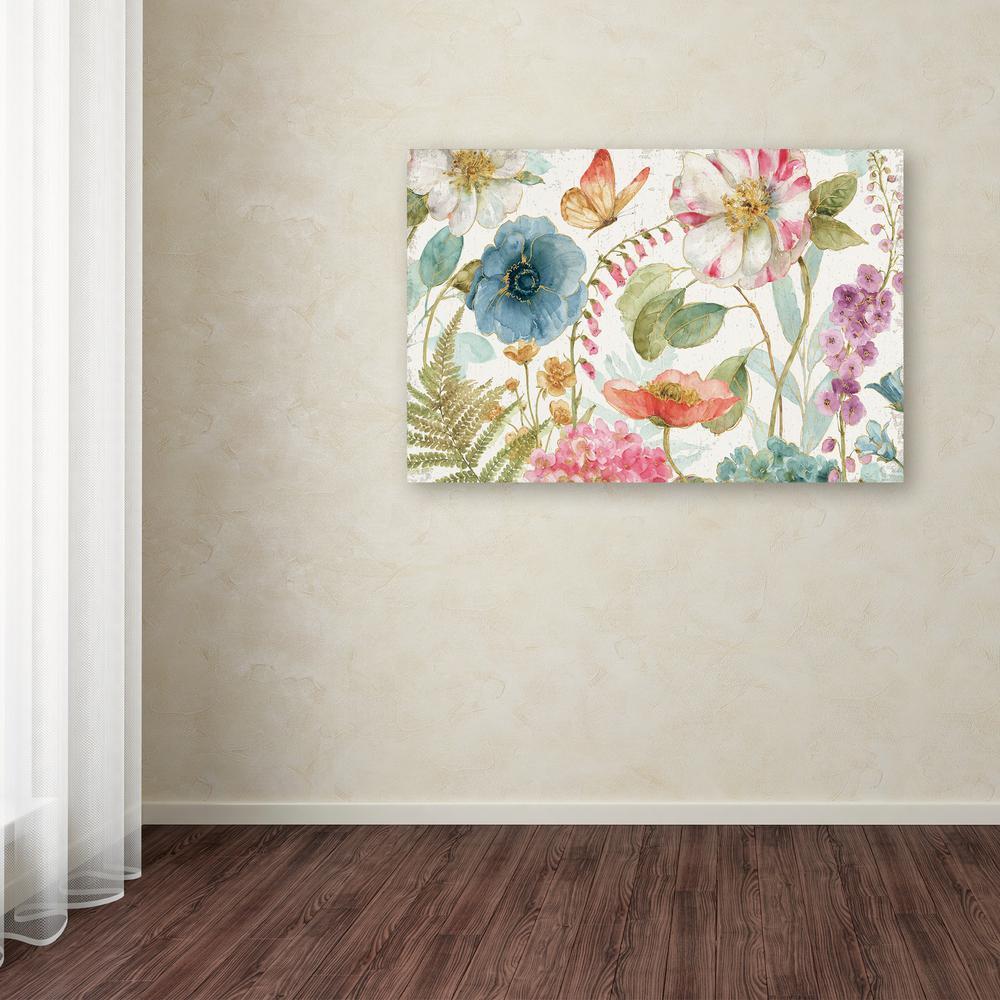Trademark Fine Art 12 in. x 19 in. ''Rainbow Seeds Flowers