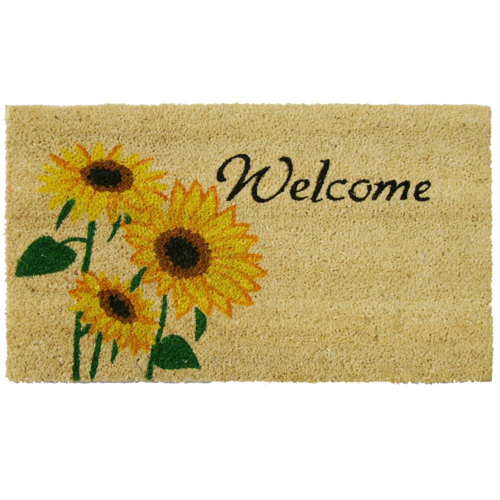 Sunflower 18 in. x 30 in. Welcome Door Mat