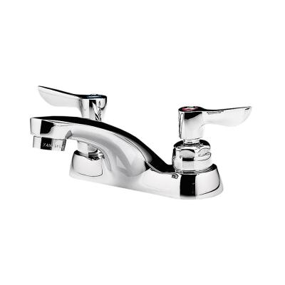 Monterrey 4 in. Centerset 2-Handle 0.5 GPM Bathroom Faucet with Grid Drain in Polished Chrome