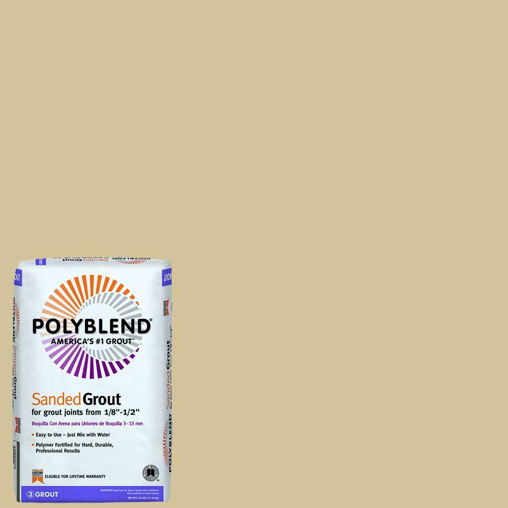 Custom Building Products Polyblend #122 Linen 25 lb. Sanded Grout