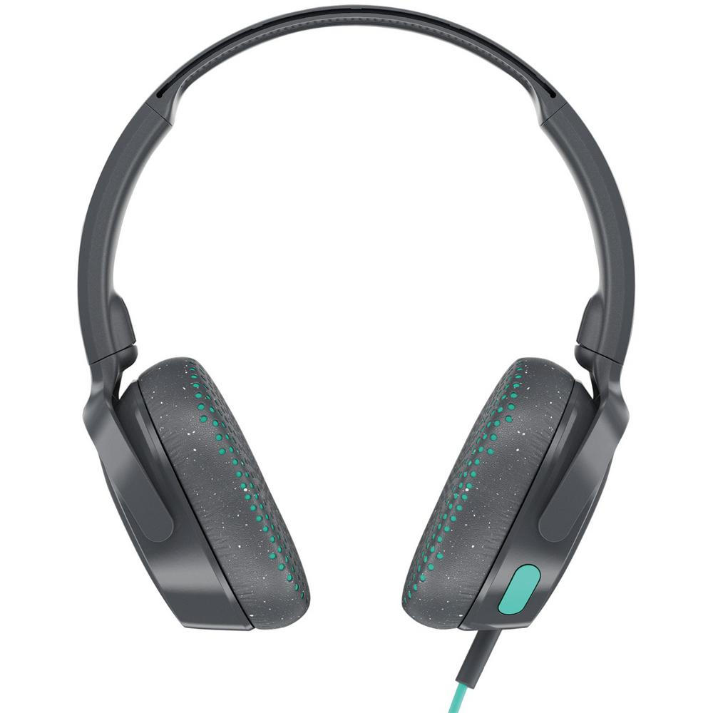 Riff On-Ear Wired Headphones with Microphone in Gray Riff On-Ear Wired Headphones with Microphone in Gray