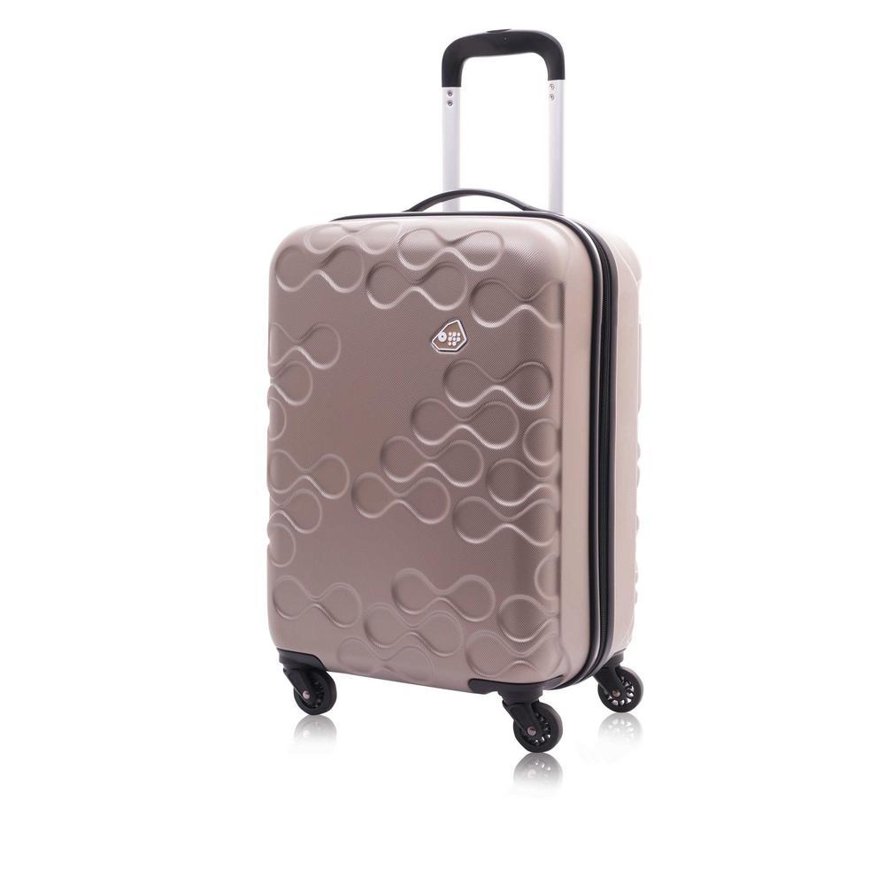 Harrana Ivory Gold 3-Piece Spinner Luggage Set