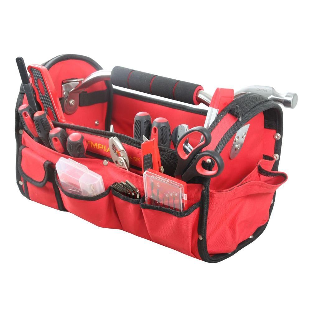 OLYMPIA 52 Piece Construction Tool Set With Storage Bag