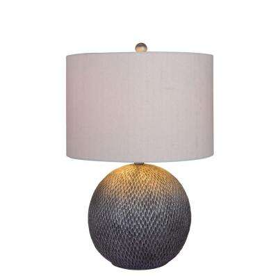 23.5 in. Silver Resin Table Lamp