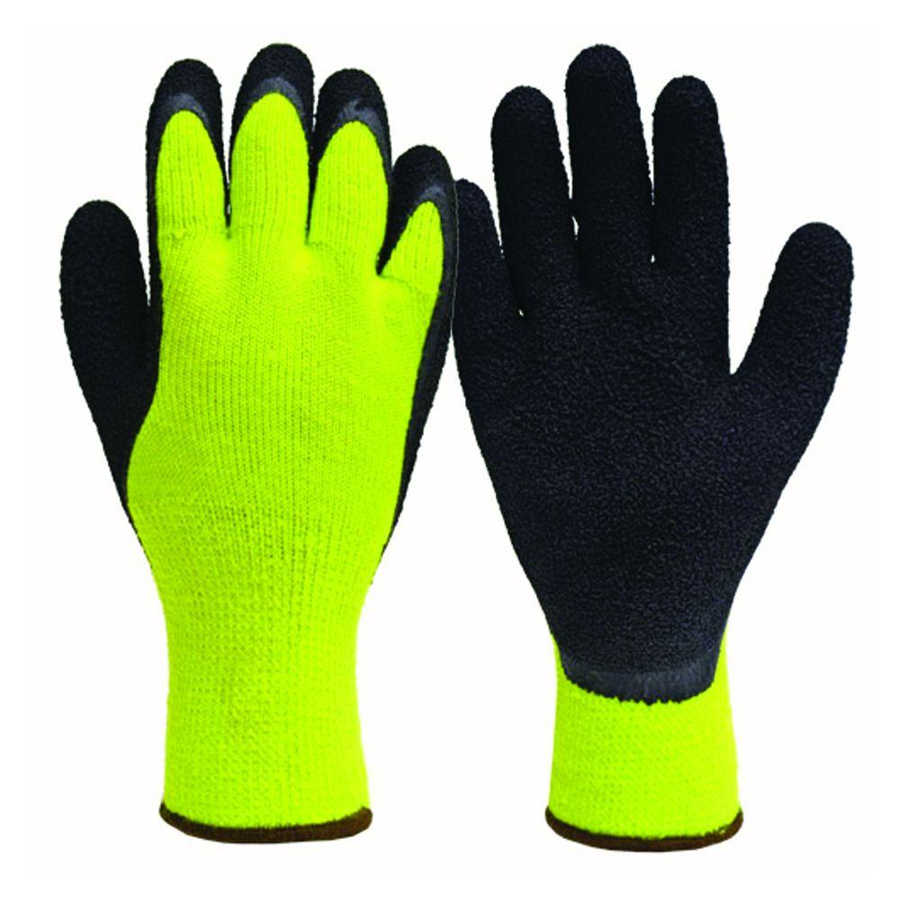 Winter High Visibility X-Large Thermal Latex Coated Gloves