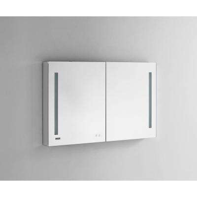 Signature Royale 48 in W x 30 in. H Recessed or Surface Mount Medicine Cabinet with Bi-View Doors and LED Lighting