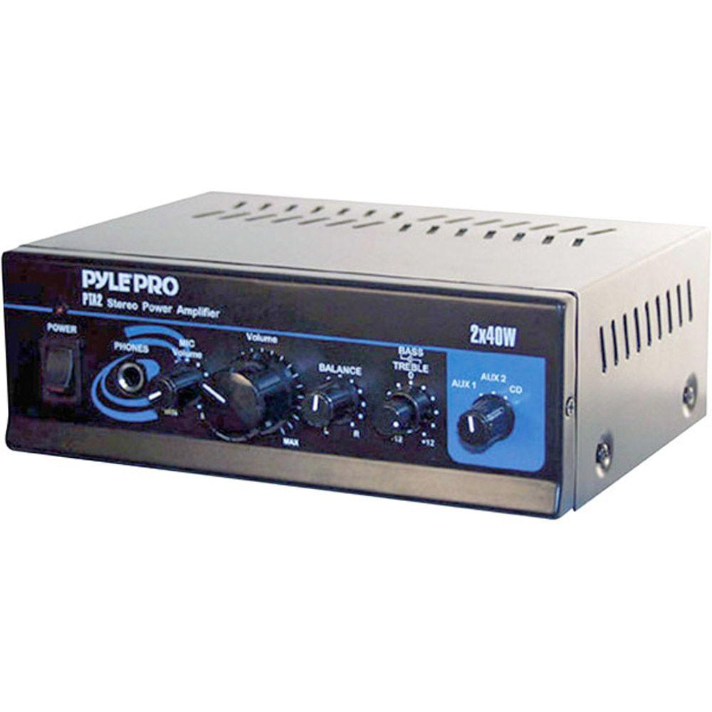 Pyle Mini 2X40W Stereo Power Amplifier-DISCONTINUED