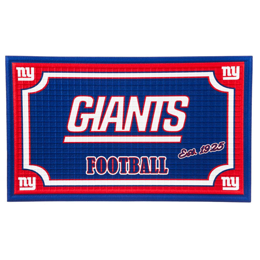 Evergreen New York Giants 18 In X 30 In Embossed Welcome