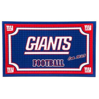 New York Giants 18 in. x 30 in. Embossed Welcome Mat