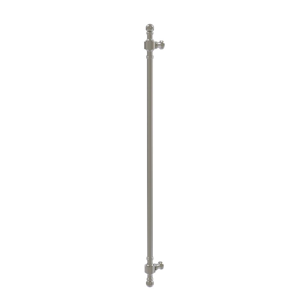 Retro Dot Collection 18 in. Beaded Refrigerator Pull in Satin Nickel