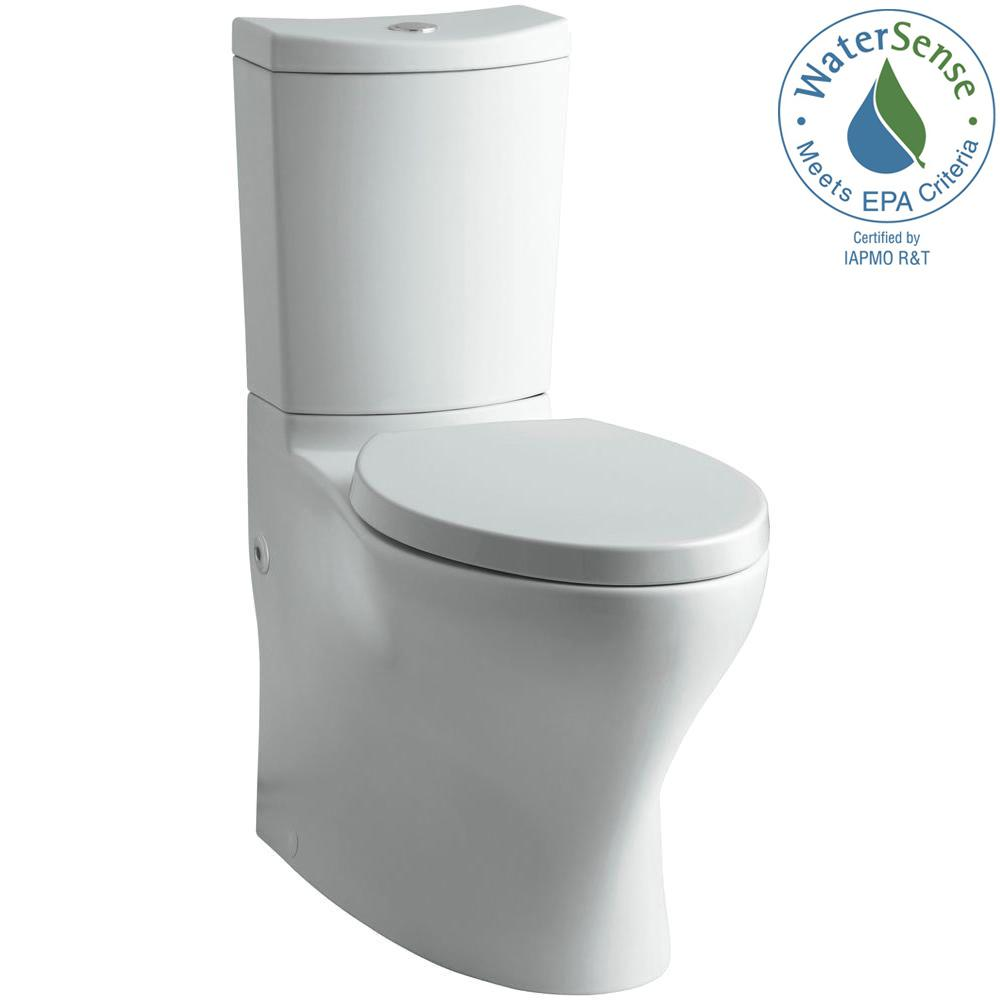 KOHLER Persuade 2-piece 1.0 or 1.6 GPF Dual Flush Elongated Toilet in Ice Grey