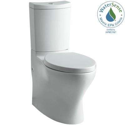 Persuade 2-piece 1.0 or 1.6 GPF Dual Flush Elongated Toilet in Ice Grey, Seat Not Included