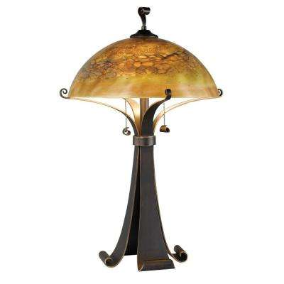 Santa Fe 28 in. Chocolate Caramel Table Lamp