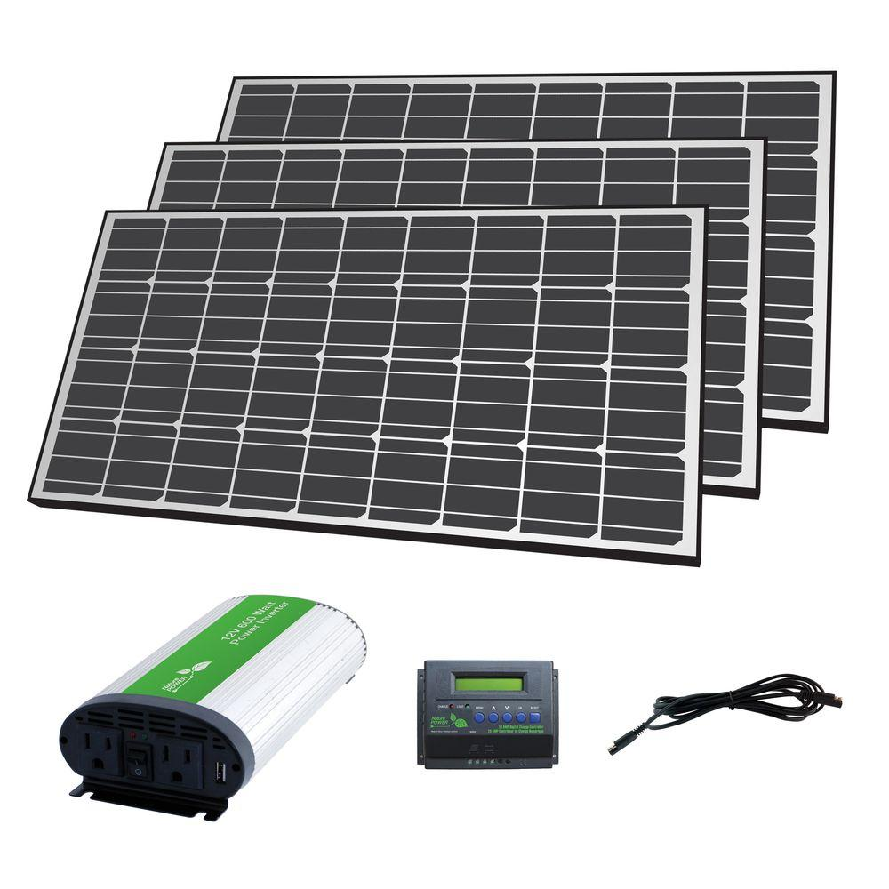 Nature Power 420-Watt Solar Panel Off-Grid Charger Kit