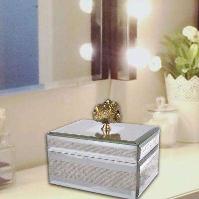 Sumptuous Striped Gold and Clear Decorative Box