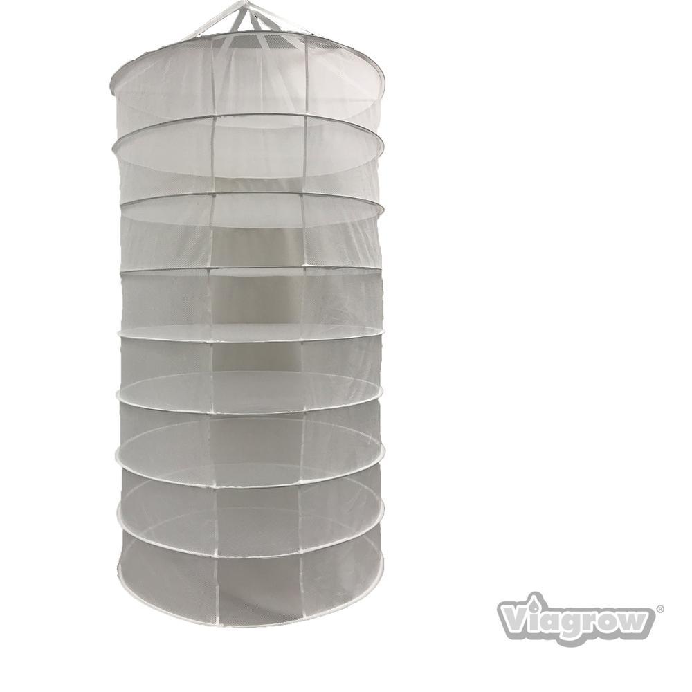 Hydroponics Organic 8-Layer 35 in. x 63 in. Herb Drying Mesh Rack
