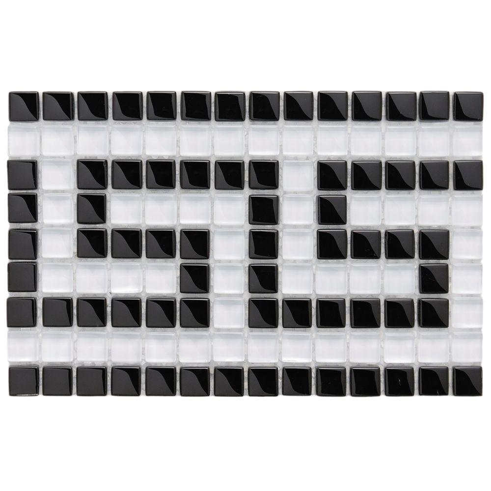 Merola Tile Tessera Ice White Greek Key 5 7 8 In X 9 1 Mm Gl Mosaic Border Gdmgwb The Home Depot
