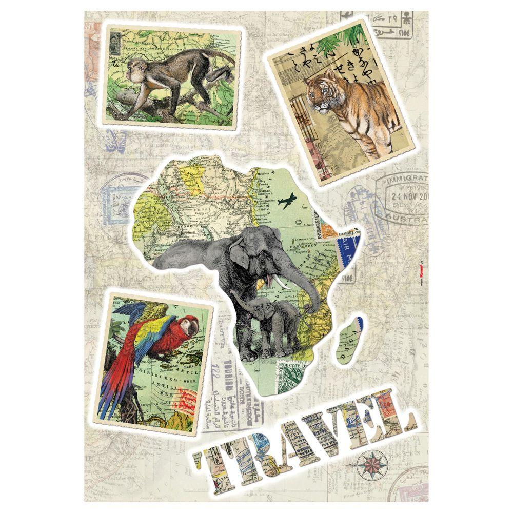 19 in. x 27 in. Travel Wall Decal