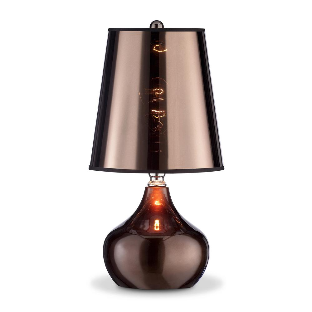 18 in luster cappuccino touch on table lamp k 818t cp the home luster cappuccino touch on table lamp geotapseo Image collections