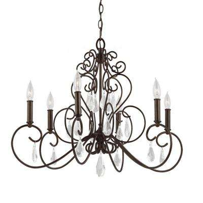 Angelette 6-Light Bonnieaux Bronze Single-Tier Chandelier