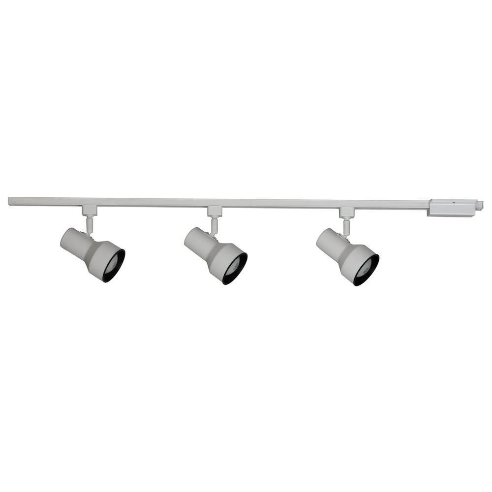 Hampton Bay Linear 3 Light Black Track Lighting Kit Ec400bk The Home Depot