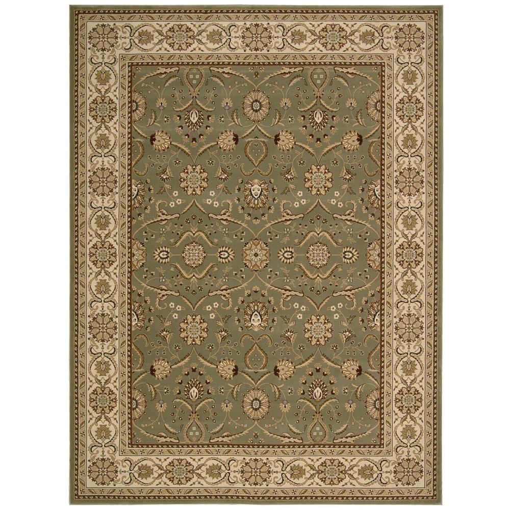 Nourison Persian Crown Malti Green 9 ft. 3 in. x 12 ft. 9 in. Area Rug