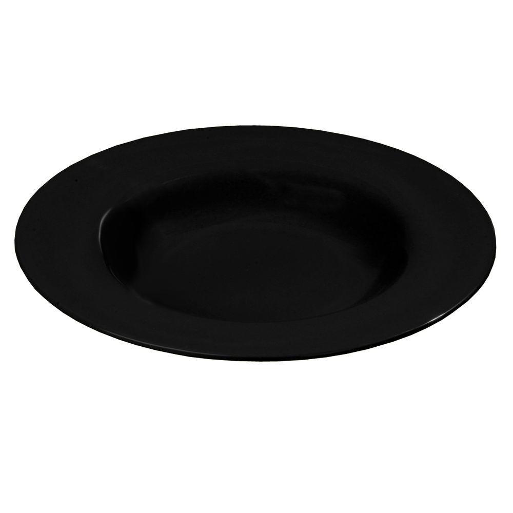 20 oz., 12.02 in. Diameter Melamine Chef Salad/Pasta/Soup Bowl in Black (Case of 12)